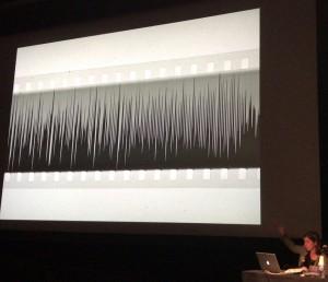 音の実験フィルムに関するシネマテークフランセーズの発表。