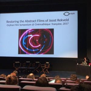 EYE映画博物館による実験映画に関する発表。